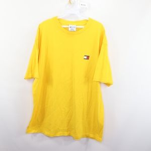 90s Tommy Hilfiger Mens Large Spell Out T Shirt